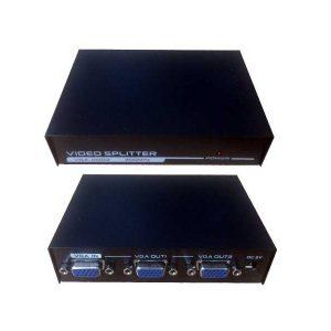 اسپلیتر vga 2 پورت | تبدیل 1 به 2 vga | اسپلیتر وی جی ای | هاب vga | وسیله ای برای نمایش یک تصویر خروجی در 2 مانیتور | vga splitter | تبدیل ۱ به ۲ VAG |