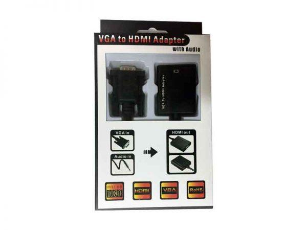 تبدیل وی جی ای به اچ دی ام آی با صدا و آداپتور VGA to HDMI+Audio+adapter