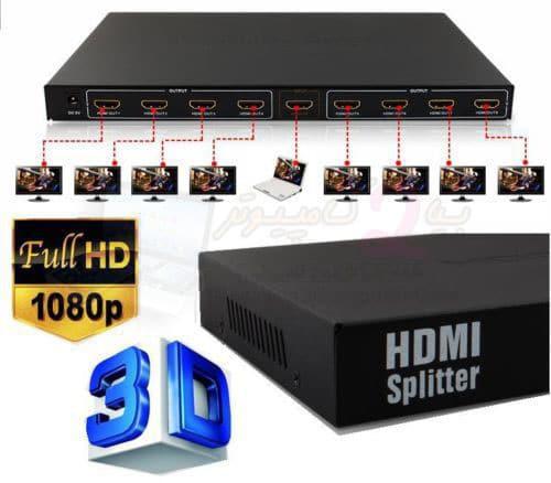 اسپلیتر اچ دی ام آی 8 پورت-HDMI Splitter 8 port