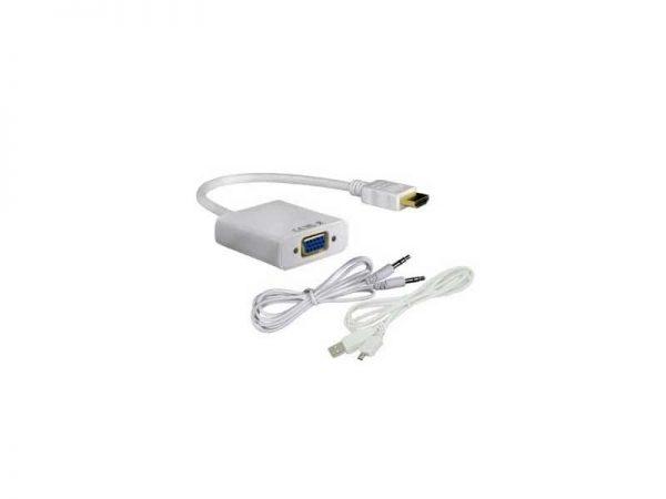تبدیل اچ دی ام آی به وی جی ای با صدا و آداپتور-HDMI to VGA