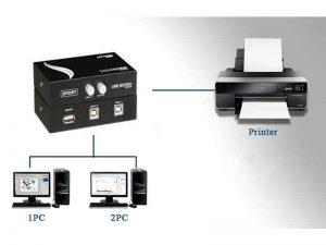 پرینتر سوییچ ۴ پورت دستی-Printer Switch 1A4B
