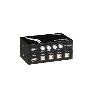 پرینتر سوئیچ ۴ پورت دستی | دیتا سوئیچ USB | هاب سوئیچ پرینتر | تبدیل 1 به 4 پرینتر | اتصال 4 دستگاه به پرینتر | مبدل پرینتر 4 پورت |