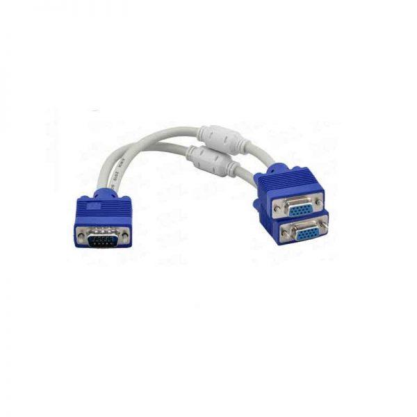 کابل vga 1 به 2 | تبدیل 1 به 2 vga | اتصال 2 مانیتور به یک کامپیوتر | انواع کابل vga در فروشگاه اینترنتی ای خرید | انواع تجهیزات صدا و تصویر .