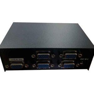 اسپلیتر vga 1 به 4 | اسپلیتر vga چهار پورت | اسپلیتر 4 پورت vga | اتصال همزمان 4 مانیتور به کامپیوتر | 4 خروجی همزمان VGA از کامپیوتر | قیمت اسپلیتر vga |