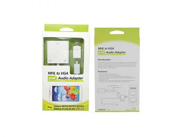 تبدیل میکرو USB به VGA با صدا-MHL to VGA and Audio Adapter