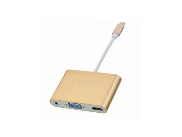 تبدیل type c به VGA HDMI Audio | مبدل type c به VGA HDMI Audio | تبدیل تایپ c بهVGA |