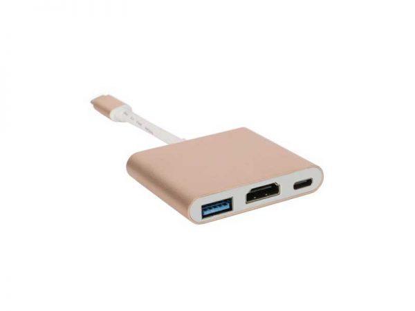 تبدیل type c به hdmi-USB3-type c | مبدل type c بهhdmi-USB3-type c | تبدیل تایپ سی بهhdmi-USB3-type c |