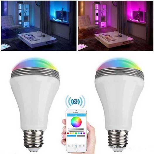 اسپیکر لامپی بلوتوثی Smart Bulb LED Light with Bluetooth
