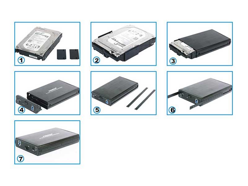 باکس هارد 3.5 اینچ فیدکو USB 3.0 to SATA HDD External Box FIDECO