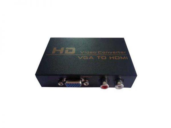 تبدیل وی جی ای به اچ دی ام آی |تبدیل VGA به HDMI |تبدیل وی جی ای به HDMI | VGA to HDMI Converter HWH 2058