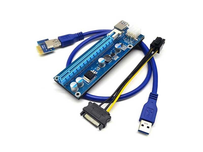 رایزر-گرافیک-1X-به-16X-با-کابل-Graphic-Card-Rizer-USB3.0-