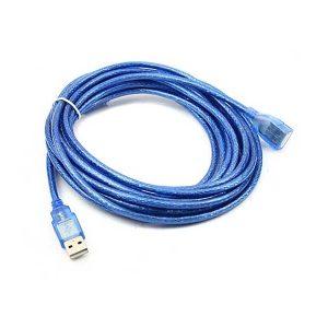 کابل افزایش طول usb شیلددار | کابل بلند کننده usb | کابل افزایش usb آبی | قیمت کابل افزایش طول USB | کابل USB Extender | ای خرید .