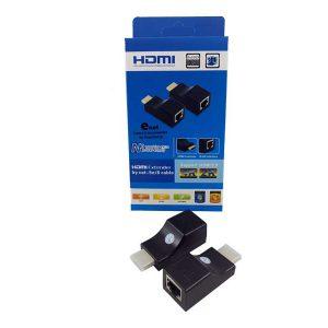 تبدیل افزایش طول HDMI | اکستندر hdmi | اکستندر تصویر HDMI | افزایش طول hdmi با کابل شبکه | مبدل extender | قیمت اکستندر HDMI |