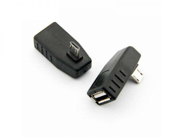 تبدیل میکرو USB به USB مادگی ۹۰ درجه | تبدیل نری میکرو USB| تبدیل ۹۰ درجه OTG