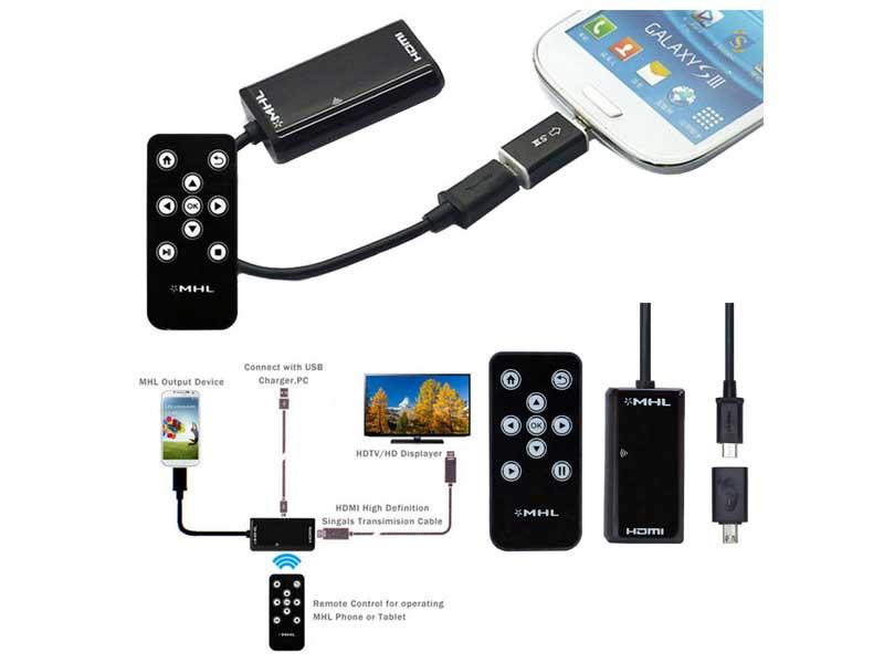 تبدیل میکرو USB به HDMI | تبدیل MHL به HDMI | تبدیل MHL |