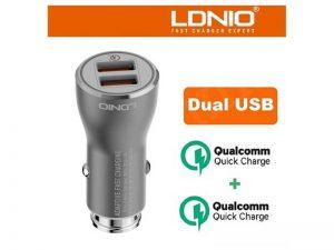 شارژر فندکی LDNIO مدل C407Q | شارژر فندکی LDNIO | شارژر فندکی الدنیو |
