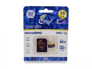 کارت حافظه Vicco ظرفیت 16 U3   مموری کارت Vicco ظرفیت 16 U3   رم Vicco ظرفیت 16 U3  