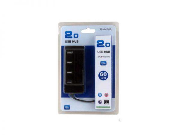 هاب 4 پورت USB2.0 | هاب 4 پورت مدل 202 | هاب USB2 مدل 202 | هاب 4 پورت کلیددار | هاب کلیددار 4 پورت USB2 | قیمت هاب 4 پورت | خرید هاب 4 پورت |