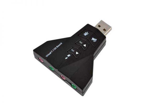 کارت صدا اکسترنال | کارت صدا USB 7.1 | کارت صدا موشکی | کارت صدا USB ولوم دار | کارت صدا اکسترنال 4 کانال ولوم دار | قیمت کارت صدا USB موشکی |