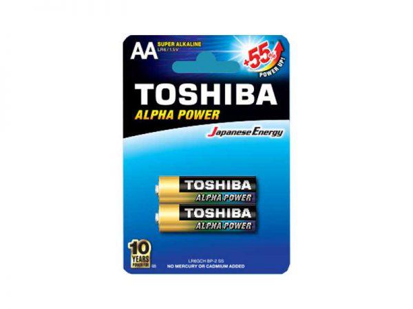 باتری قلمی توشیبا |باتری قلمی آلکالاین توشیبا | باتری توشیبا High Power | باتری توشیبا Alpha Power | خرید باتری قلمی توشیبا |