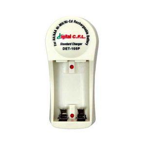شارژر باتری قلمی 2 تایی | شارژر باتری قلمی DET-105P | شارژر باتری Digital cfl | بهترین شارژر باتری قلمی | خرید شارژر باتری قلمی |