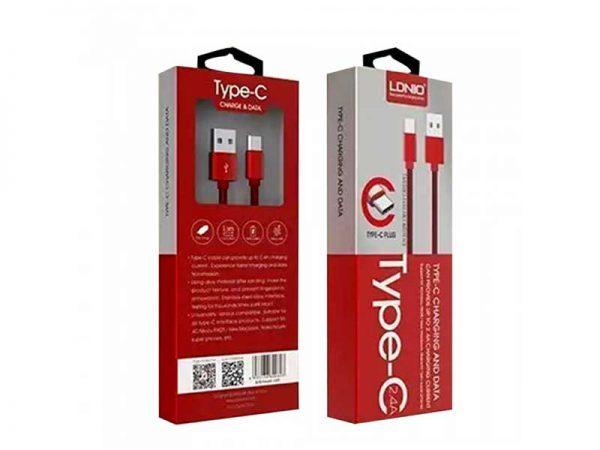 کابل شارژ Type C | کابل شارژ LDNIO LS60 | کابل usb c ldnio | سیم شارژ type c ldnio | خرید کابل type c LDNIO LS60 | کابل شارژ باکیفیت LDNIO |