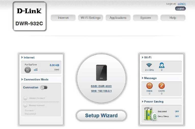 تنظیمات-مودم-dlink-dwr-932c