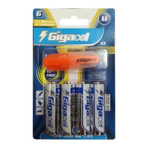 باتری قلمی آلکالاین گیگاسل | باتری قلمی Super Alkaline Gigacell | باتری 4 تایی گیگاسل | باتری AA آلکالاین گیگاسل | باتری جایزه دار گیگاسل | ای خرید