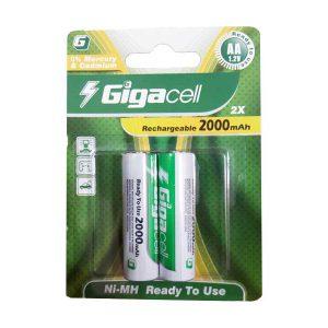 باتری قلمی شارژی گیگاسل 2000 | باتری شارژی AA گیگاسل | باتری Gigacell 2000mAh | قیمت باتری قلمی شارژی گیگاسل 2000 | باتری قلمی شارژی ارزان | ای خرید