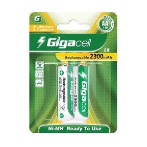 باتری قلمی شارژی گیگاسل 2300 | باتری شارژی قلمی گیگاسل 2300 | باتری Gigacell 2300mAh | باتری AA شارژی گیگاسل | باتری قلمی شارژی 1.5 ولت | ای خرید