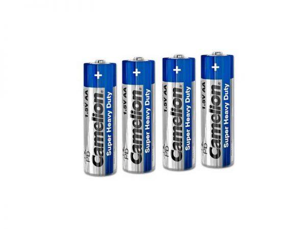 باتری قلمی کملیون Super Heavy Duty | باتری AA کملیون 4 عددی | باتری قلمی ارزان کملیون | باتری قلمی 1.5 ولت Camelion | قیمت باتری قلمی هوی دیوتی |