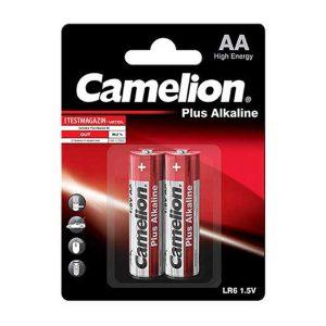 باتری قلمی کملیون پلاس آلکالاین 2 عددی | باتری Camelion Plus Alkaline 2 | باتری قلمی آلکالاین 2 تایی کملیون | قیمت باتری Plus Alkaline Camelion | ای خرید