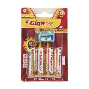 باتری قلمی 4 تایی گیگاسل | باتری heavy duty گیگاسل | باتری قلمی Gigacell AA | باتری قلمی گیگاسل Heavy duty | باتری هوی دیوتی قلمی |