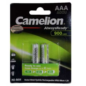 باتری نیم قلمی شارژی کملیون 900 | باتری نیم قلمی Always ready | باتری AAA شارژی کملیون | باتری نیم قلم 900 میلی آمپری | قیمت باتری شارژی AAA کملیون |