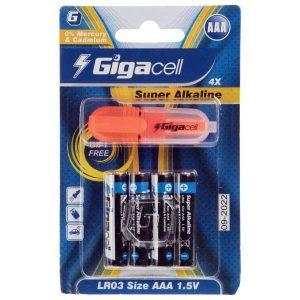 باتری نیم قلم آلکالاین گیگاسل | باتری نیم قلم Super Alkaline Gigacell | باتری AAA گیگاسل | باتری سوپر آلکالاین گیگاسل | قیمت باتری نیم قلم آلکالاین |