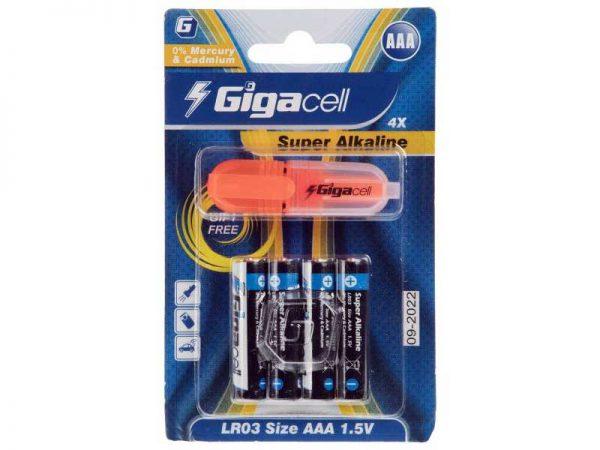 باتری نیم قلم آلکالاین گیگاسل   باتری نیم قلم Super Alkaline Gigacell   باتری AAA گیگاسل   باتری سوپر آلکالاین گیگاسل   قیمت باتری نیم قلم آلکالاین  