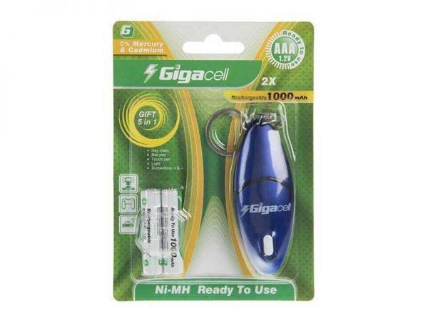 باتری نیم قلم شارژی گیگاسل 1000 | باتری AAA گیگاسل 1000mAh | باتری Gigacell 1000mAh | باتری نیم قلم 1.2 ولت گیگاسل | قیمت باتری نیم قلم شارژی گیگاسل |