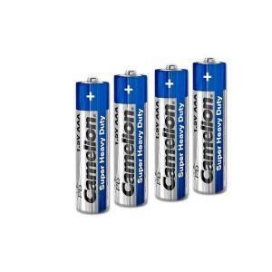باتری نیم قلم کملیون 4 عددی | باتری AAA کملیون Super Heavy Duty | باتری Camelion AAA Heavy Duty | قیمت باتری AAA کملیون شیرینگ | ای خرید .