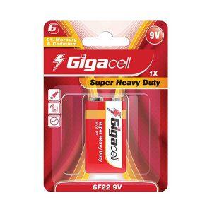 باتری کتابی 9 ولت گیگاسل | باتری 9 ولت گیگاسل | باتری Super Heavy Duty گیگاسل | باتری 9 ولت معمولی گیگاسل | قیمت باتری Gigacell 9V |
