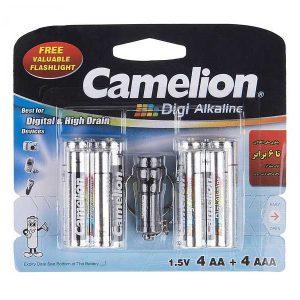باتری کملیون دیجی آلکالاین 8 تایی | باتری Digi Alkaline جایزه دار | باتری کملیون Digi Alkaline 8 تایی | باتری Camelion Digi Alkaline | قیمت باتری کملیون بسته 8 تایی |