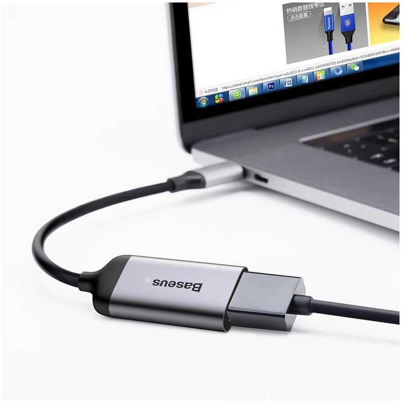 تبدیل type c به hdmi مدل baseus | تبدیل USB C به HDMI مدل Baseus | تبدیل usb type c به hdmi باسئوس | قیمت مبدل تایپ سی به HDMI baseus | خرید type c به hdmi |