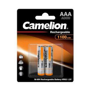 باتری نیم قلمی قابل شارژ کملیون | باتری AAA شارژی کملیون 1100mAh | باتری شارژی camelion AAA | قیمت باتری شارژی تلفن بیسیم | خرید باتری نیم قلمی کملیون |