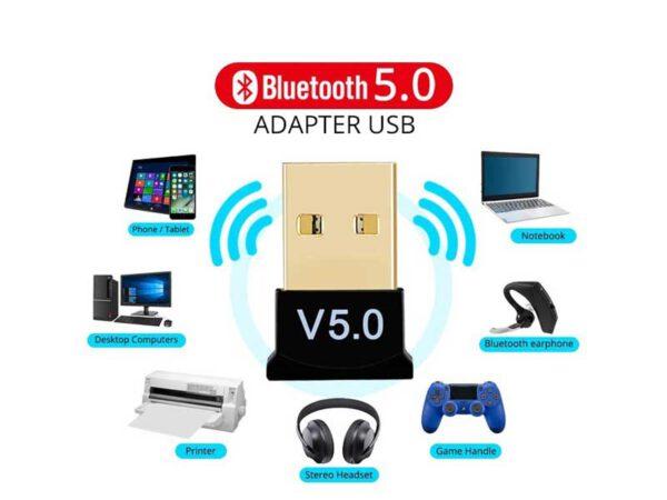 دانگل بلوتوث ورژن 5   دانگل بلوتوث USB   فرستنده بلوتوث ورژن 5   گیرنده بلوتوث ورژن 5   فروشگاه اینترنتی ای خرید.