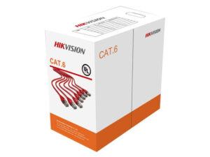 رول کابل شبکه Cat 6 سایز ۲۳AWG هایک ویژن مدل DS-1LN6-UU طول ۳۰۵ متر