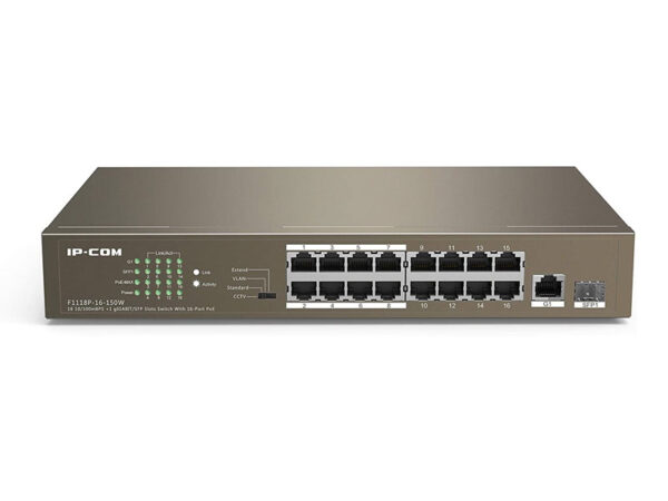 سوییچ-16-پورت-IP-COM-F1118P-POE