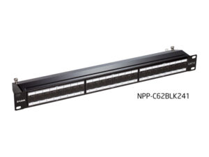 پچ پنل Cat6 شیلد دار ۲۴ پورت مدل NPP-C62BLK241 دی-لینک