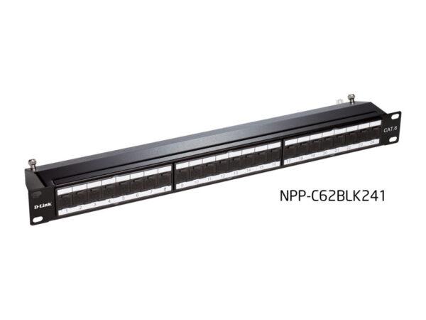 پچ-پنل-Cat6-شیلد-دار-۲۴-پورت-مدل-NPP-C62BLK241-دی-لینک